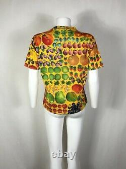 Rare Vtg Gucci Mid 90s Yellow Fruit Print Tee M