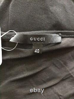Rare Vtg Gucci by Tom Ford Black 2000 Asymmetrical Top S