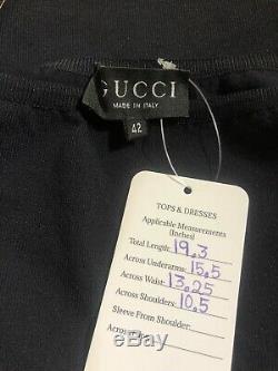 Rare Vtg Gucci by Tom Ford Black G Strap Top S c. 1998