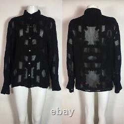 Rare Vtg Jean Paul Gaultier 90s Black Sheer Top XL
