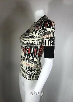 Rare Vtg Jean Paul Gaultier 90s Logo Print Tee