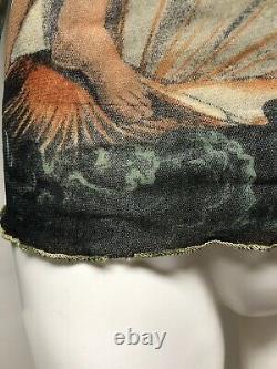 Rare Vtg Jean Paul Gaultier Birth of Venus Print Mesh Top L