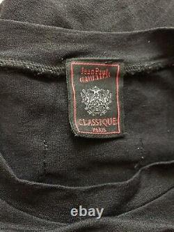 Rare Vtg Jean Paul Gaultier Black 40s Portrait Tee XS