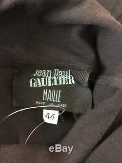 Rare Vtg Jean Paul Gaultier Black 90s Gloved Top M