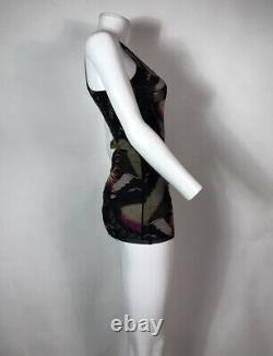 Rare Vtg Jean Paul Gaultier Black Butterfly Print Mesh Top M