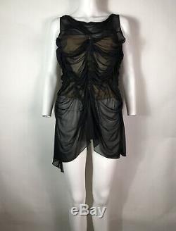 Rare Vtg Jean Paul Gaultier Black Corset Top S