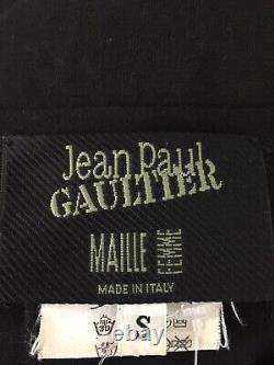 Rare Vtg Jean Paul Gaultier Black Cut Out Top S