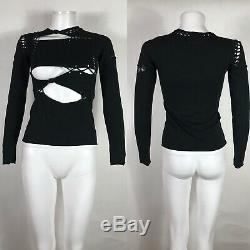 Rare Vtg Jean Paul Gaultier Black Cutout Top S