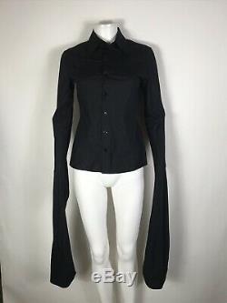 Rare Vtg Jean Paul Gaultier Black Extra Long Sleeve Shirt S