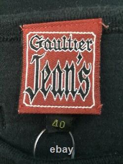 Rare Vtg Jean Paul Gaultier Black Fight Racism Logo Top S