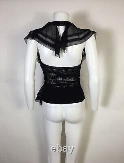 Rare Vtg Jean Paul Gaultier Black Halter Top M