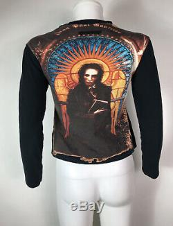 Rare Vtg Jean Paul Gaultier Black Manson Print Top S