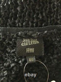 Rare Vtg Jean Paul Gaultier Black Open Knit Top S