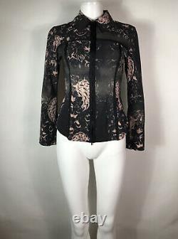 Rare Vtg Jean Paul Gaultier Black & Pink Top S