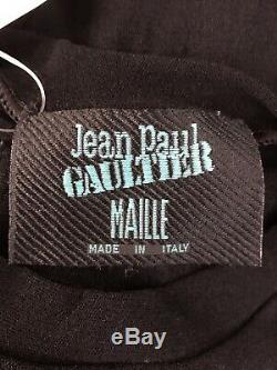 Rare Vtg Jean Paul Gaultier Black Sheer Mesh Top M
