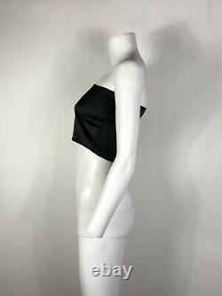 Rare Vtg Jean Paul Gaultier Black Tube Crop Top S