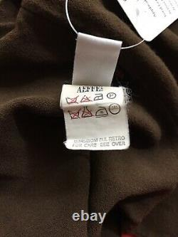Rare Vtg Jean Paul Gaultier Brown Plunge Neckline Crop Top L