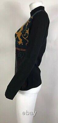 Rare Vtg Jean Paul Gaultier Coat of Arms Top S