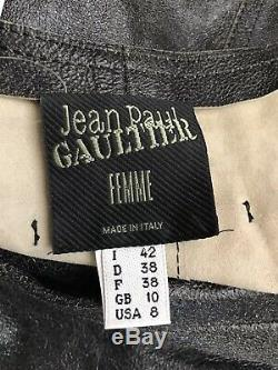 Rare Vtg Jean Paul Gaultier Cropped Leather Jacket Sleeves M