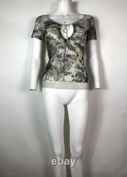 Rare Vtg Jean Paul Gaultier Cutout Mesh Top S