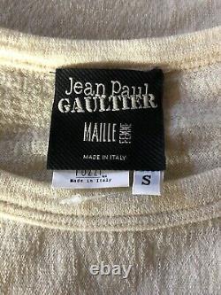 Rare Vtg Jean Paul Gaultier Ecru Corset Waist Top S