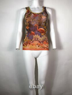 Rare Vtg Jean Paul Gaultier Flamingo Print Tank Top S