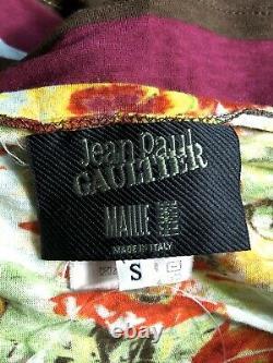 Rare Vtg Jean Paul Gaultier Fruit Print Halter Top S