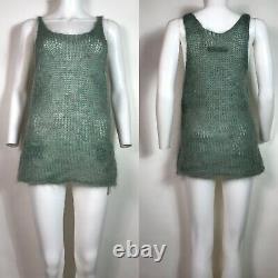Rare Vtg Jean Paul Gaultier Green Mohair Knit Tank Top S
