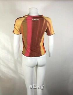 Rare Vtg Jean Paul Gaultier JPG Jeans Pink Orange Top S