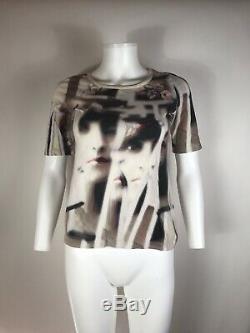 Rare Vtg Jean Paul Gaultier JPG Op Art Face Top