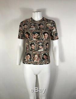 Rare Vtg Jean Paul Gaultier JPG Portrait Print Top S