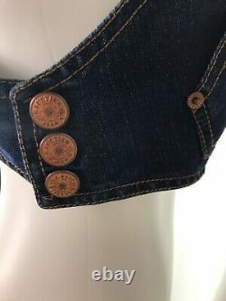 Rare Vtg Jean Paul Gaultier Jean's Denim Crop Top S