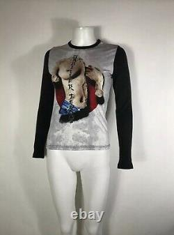 Rare Vtg Jean Paul Gaultier Jean's Nude Statue Print Gray Top S