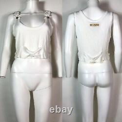 Rare Vtg Jean Paul Gaultier Jean's White Ribbed Tank Top M