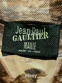 Rare, Vtg Jean-Paul Gaultier Maille Sheer Mesh Top