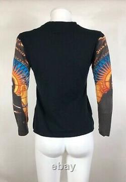 Rare Vtg Jean Paul Gaultier Manson Print Sleeve Top S