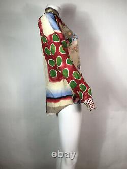Rare Vtg Jean Paul Gaultier Multicolor Print Top S