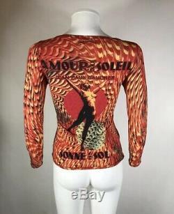 Rare Vtg Jean Paul Gaultier Nude Dance Print Top S