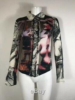 Rare Vtg Jean Paul Gaultier Nude Paris Shirt S