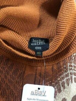Rare Vtg Jean Paul Gaultier Orange Knit Top S