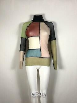 Rare Vtg Jean Paul Gaultier Patchwork Mesh Top M