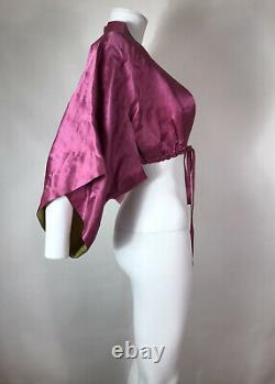 Rare Vtg Jean Paul Gaultier Pink Crop Kimono Top S