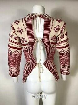 Rare Vtg Jean Paul Gaultier Red Backless Sweater M