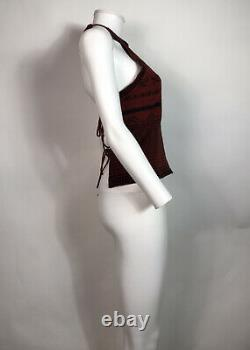 Rare Vtg Jean Paul Gaultier Red Nordic Knit Backless Top