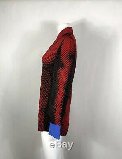 Rare Vtg Jean Paul Gaultier Red Op Art 1996 Top S
