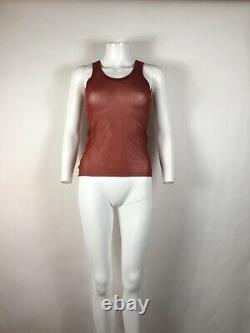 Rare Vtg Jean Paul Gaultier Red Soleil Sheer Mesh Top S