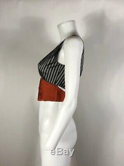 Rare Vtg Jean Paul Gaultier Red Striped Crop Top S