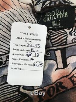 Rare Vtg Jean Paul Gaultier'Safe Sex' Top S