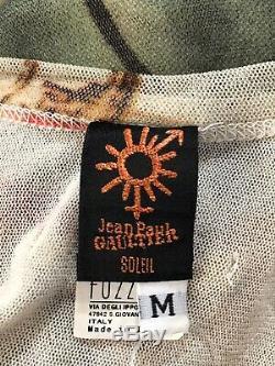 Rare Vtg Jean Paul Gaultier Soleil Abstract Fruit Tank Top M
