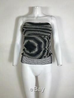 Rare Vtg Jean Paul Gaultier Soleil Black Geometric Tube Top M